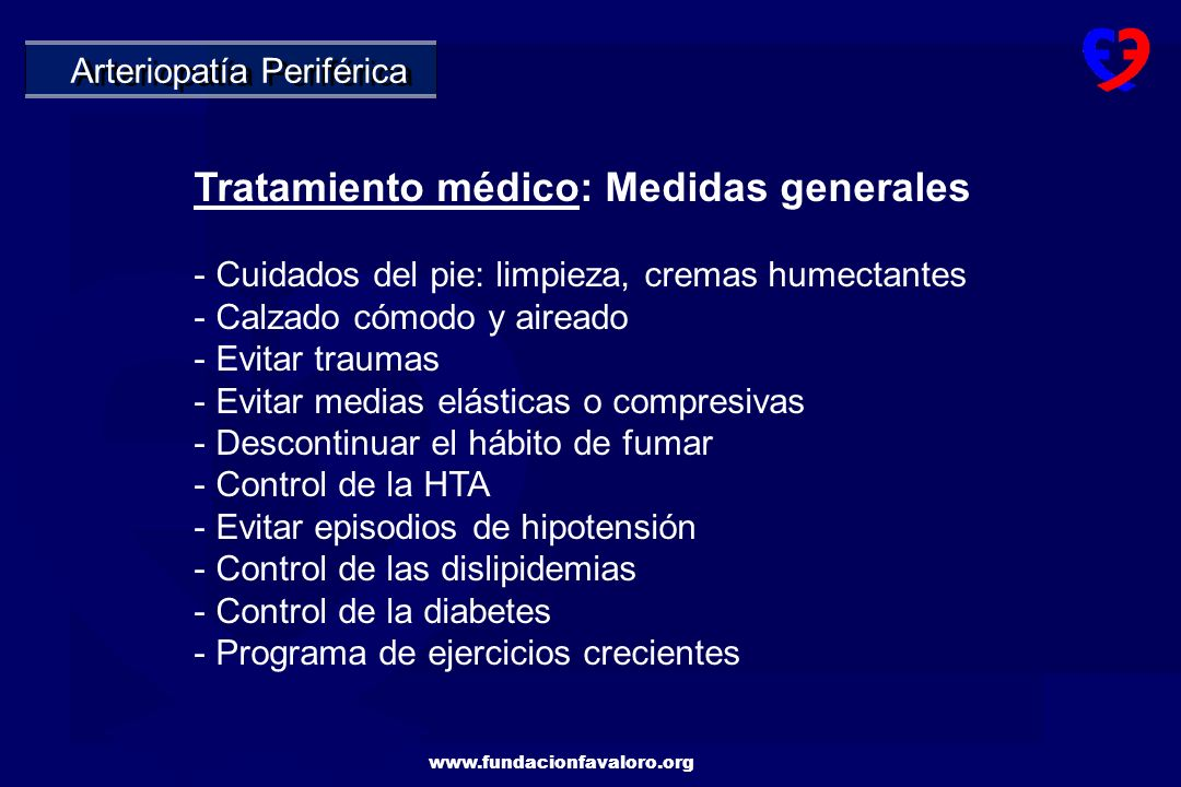 Tratamiento médico: Medidas generales