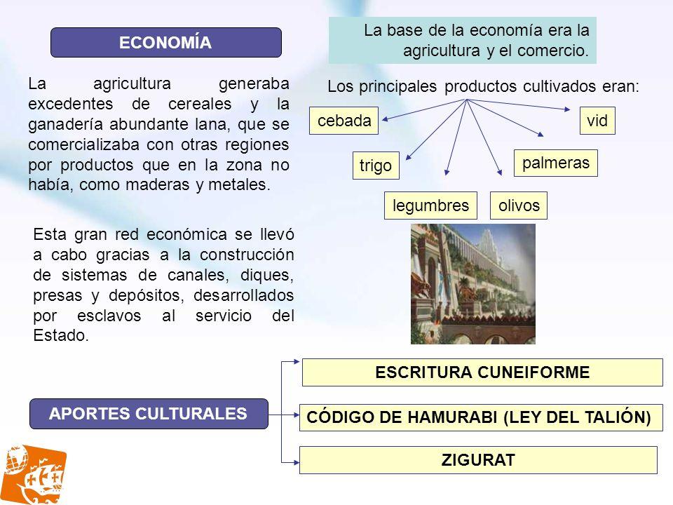 ECONOMÍA ESCRITURA CUNEIFORME APORTES CULTURALES ZIGURAT