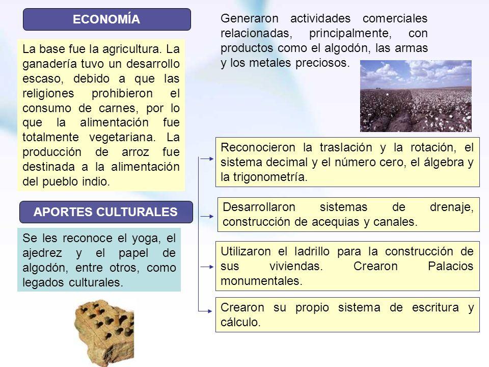 ECONOMÍAGeneraron actividades comerciales relacionadas, principalmente, con productos como el algodón, las armas y los metales preciosos.
