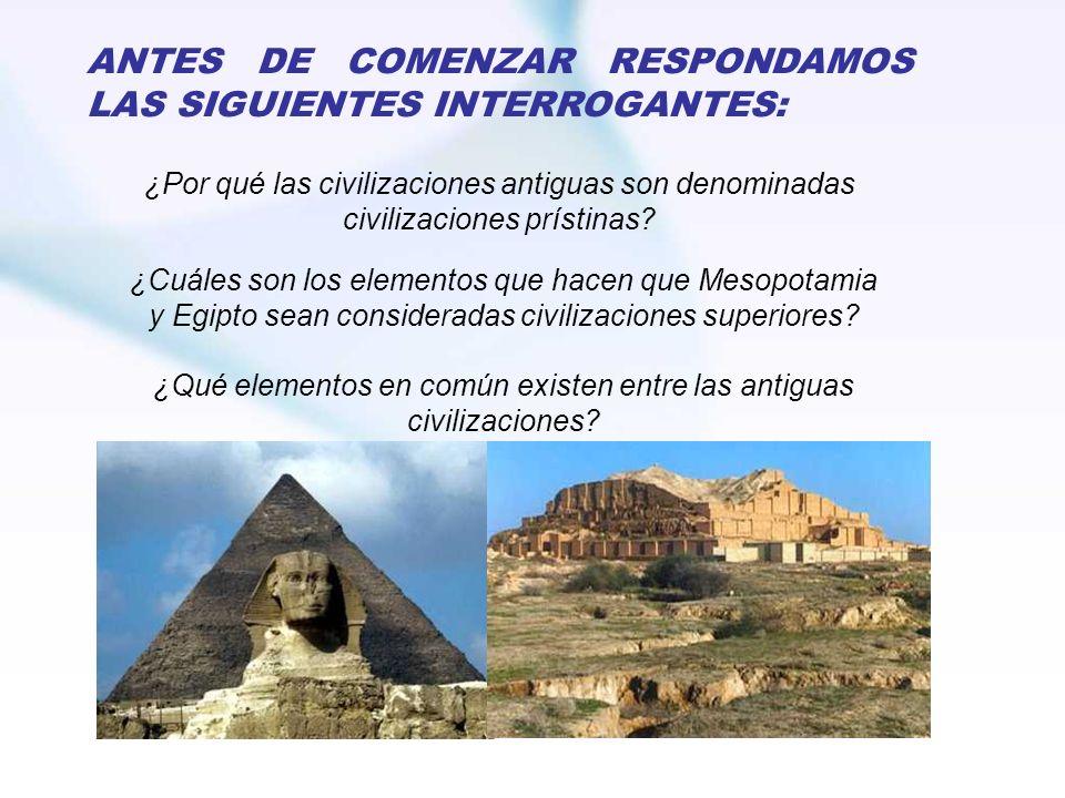 ¿Qué elementos en común existen entre las antiguas civilizaciones