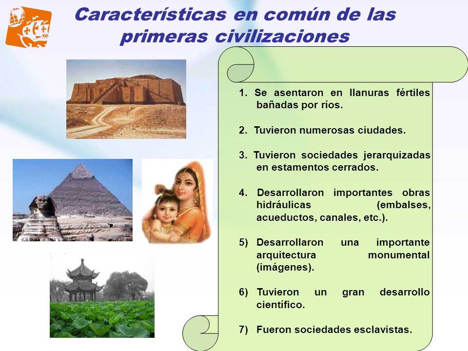 Características en común de las primeras civilizaciones