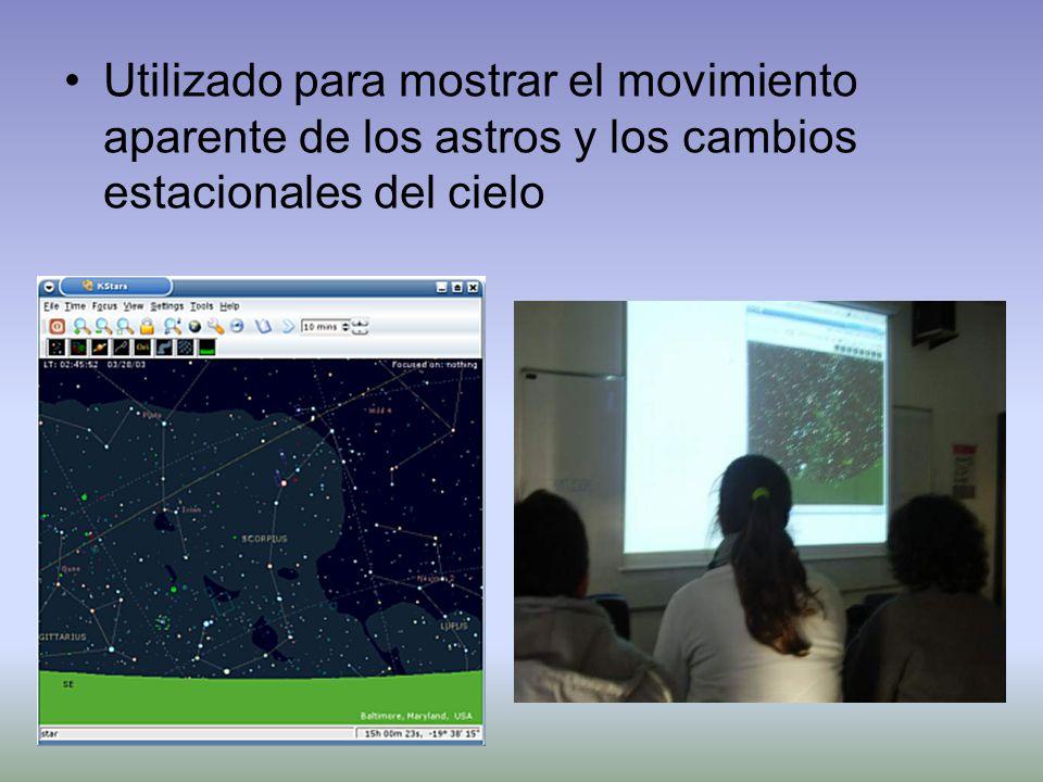 Utilizado para mostrar el movimiento aparente de los astros y los cambios estacionales del cielo