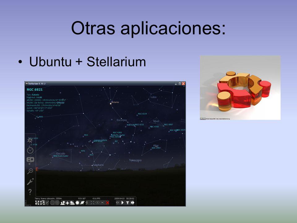 Otras aplicaciones: Ubuntu + Stellarium