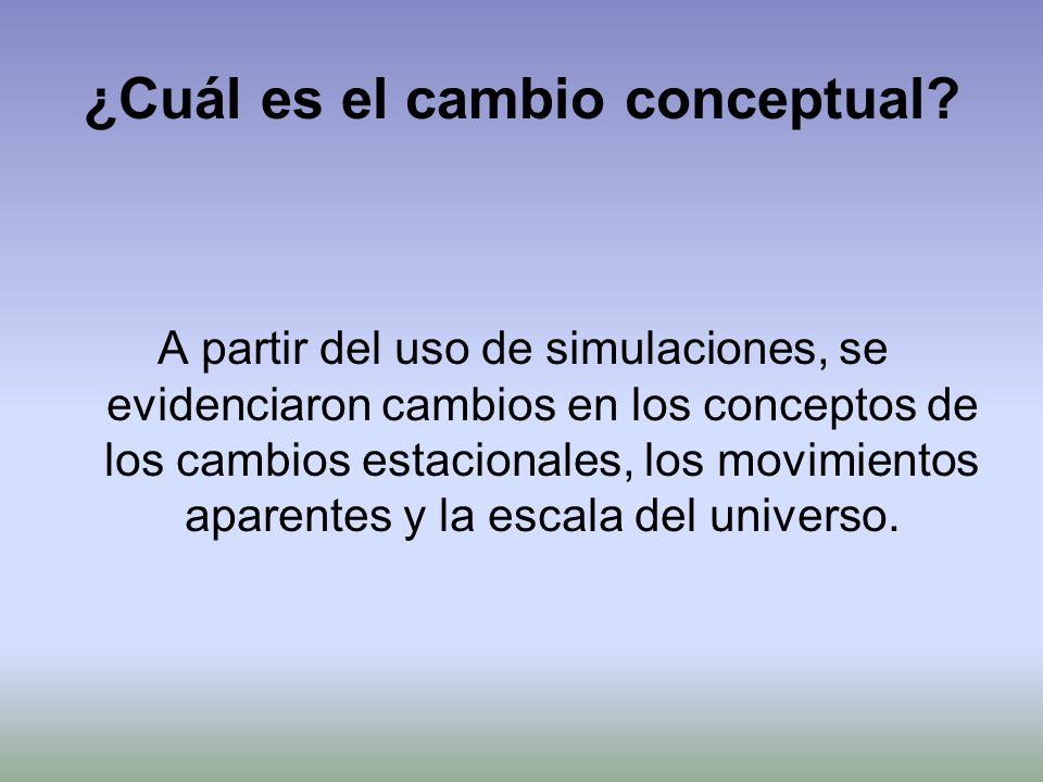 ¿Cuál es el cambio conceptual