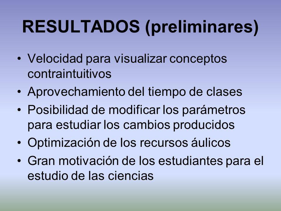 RESULTADOS (preliminares)