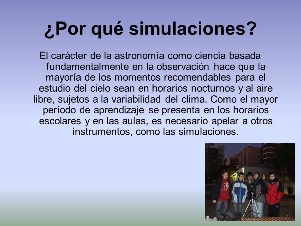 ¿Por qué simulaciones