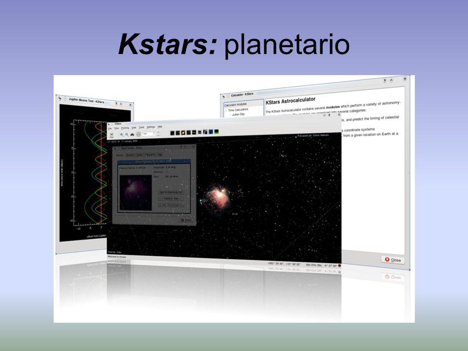 Kstars: planetario