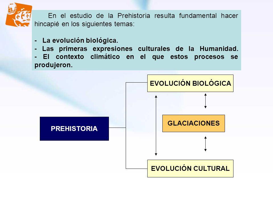 En el estudio de la Prehistoria resulta fundamental hacer hincapié en los siguientes temas: