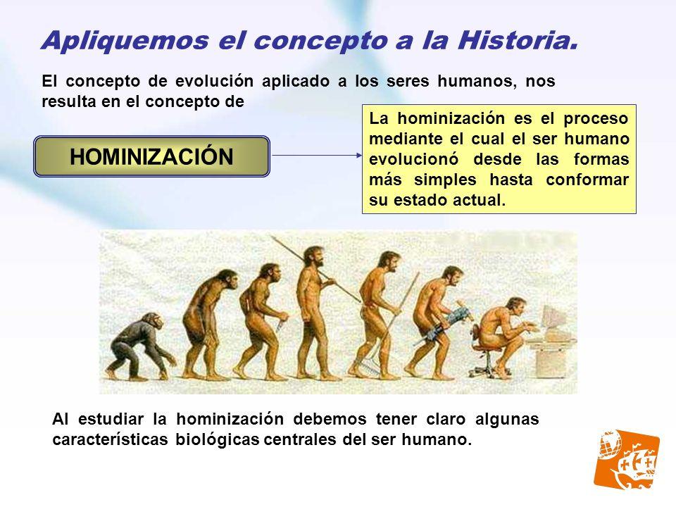 Apliquemos el concepto a la Historia.