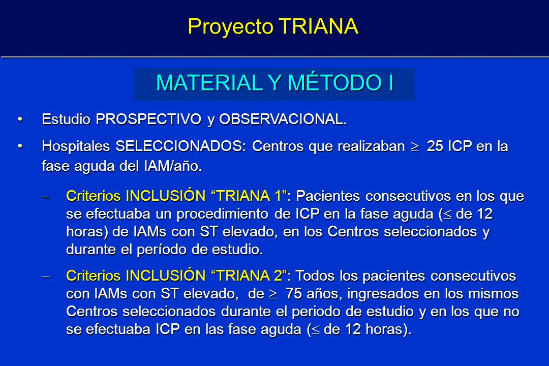 Proyecto TRIANA MATERIAL Y MÉTODO I