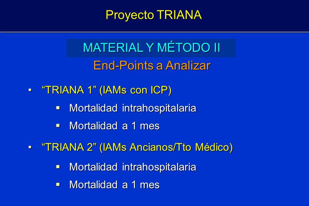 Proyecto TRIANA MATERIAL Y MÉTODO II End-Points a Analizar