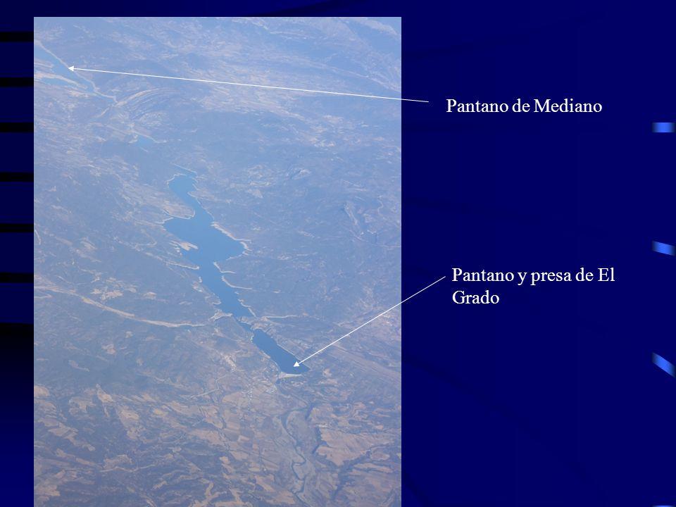 Pantano de Mediano Pantano y presa de El Grado