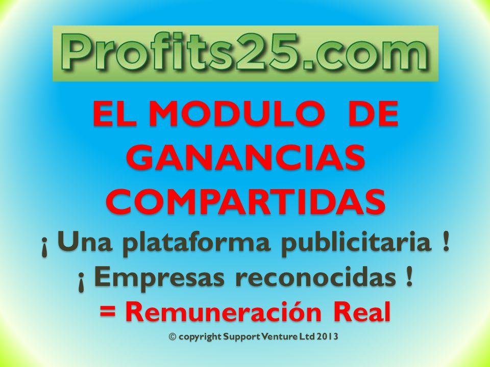 EL MODULO DE GANANCIAS COMPARTIDAS ¡ Una plataforma publicitaria