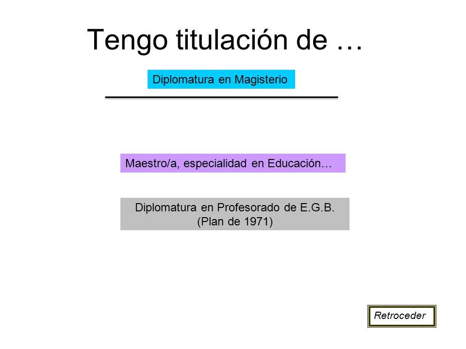 Diplomatura en Profesorado de E.G.B. (Plan de 1971)
