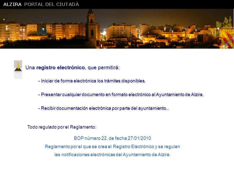 Una registro electrónico, que permitirá: