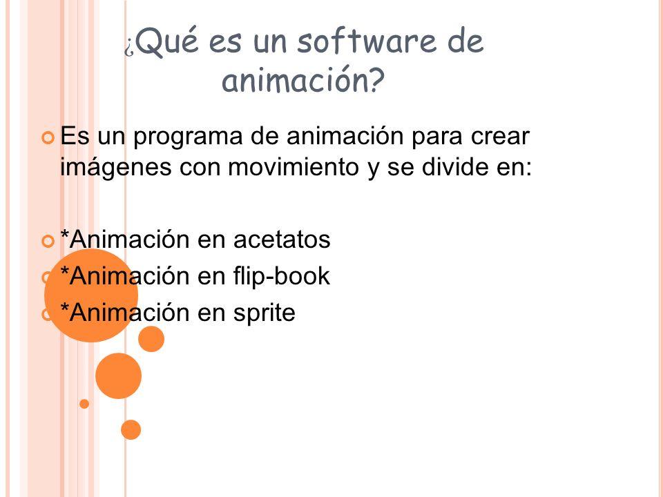¿Qué es un software de animación