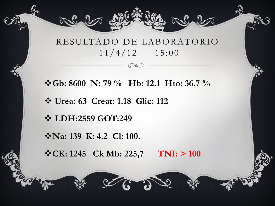 Resultado de laboratorio 11/4/12 15:00
