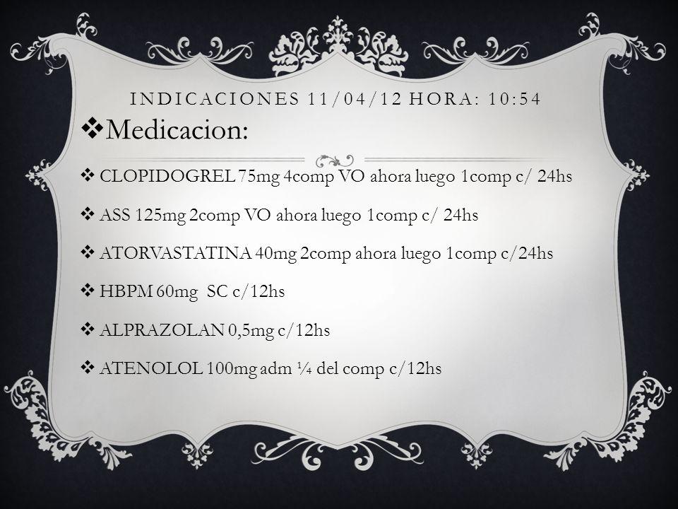 INDICACIONES 11/04/12 hora: 10:54