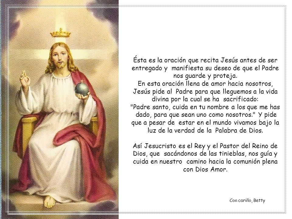 Padre santo, cuida en tu nombre a los que me has