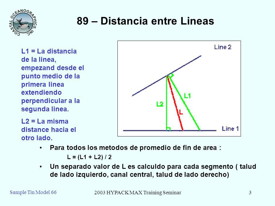 89 – Distancia entre Lineas