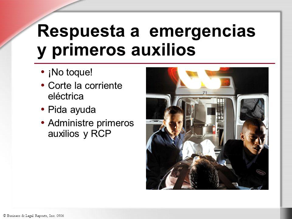 Respuesta a emergencias y primeros auxilios
