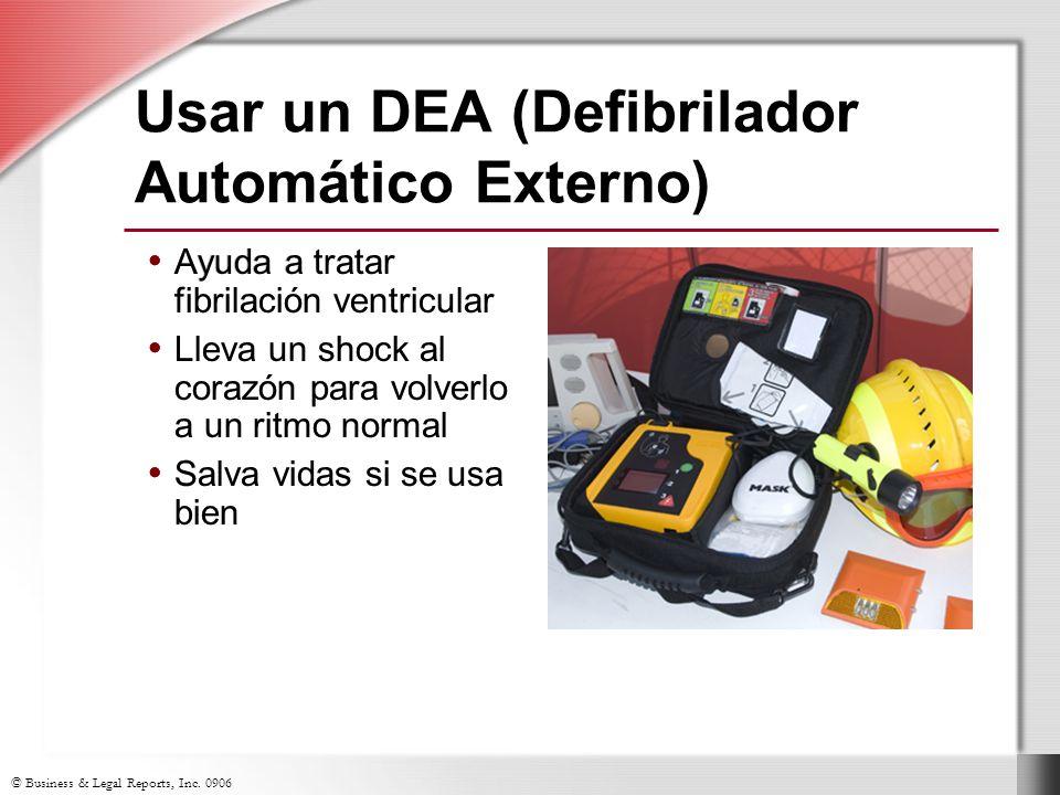 Usar un DEA (Defibrilador Automático Externo)