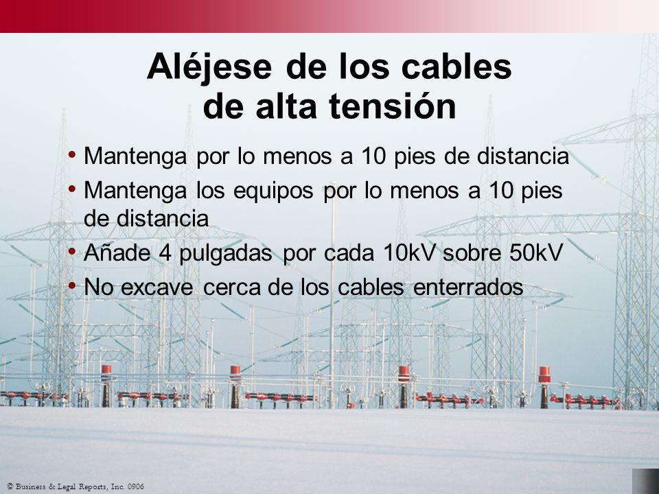 Aléjese de los cables de alta tensión