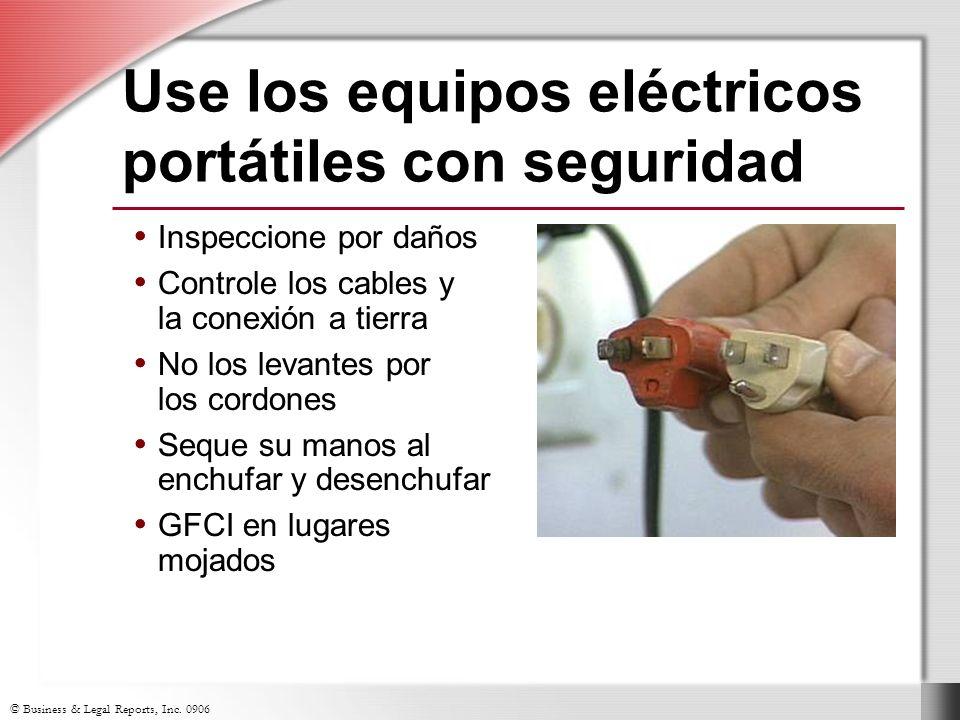 Use los equipos eléctricos portátiles con seguridad