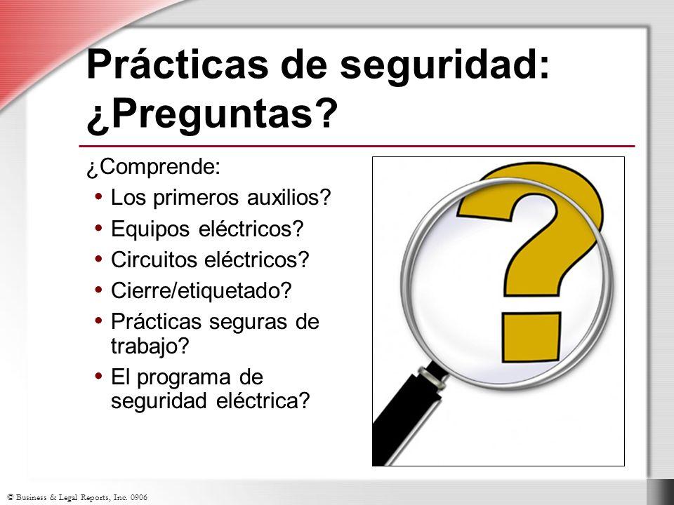 Prácticas de seguridad: ¿Preguntas