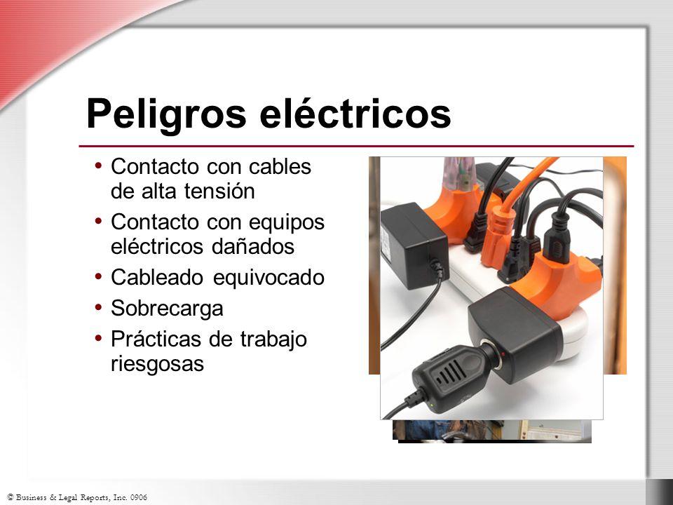 Peligros eléctricos Contacto con cables de alta tensión