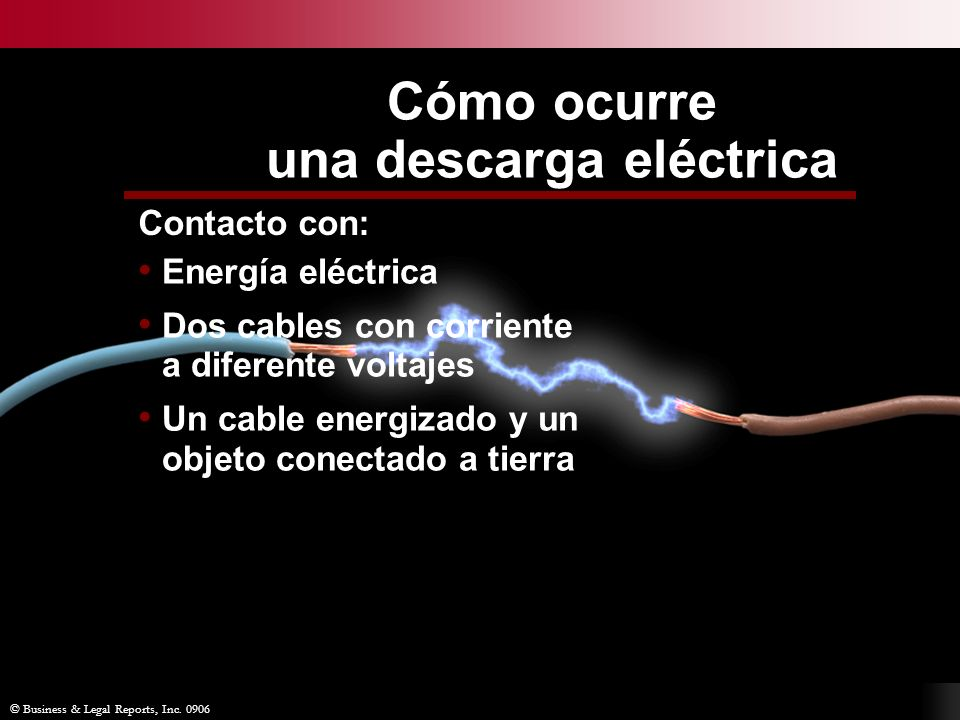Cómo ocurre una descarga eléctrica