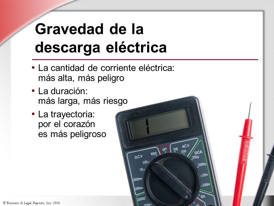 Gravedad de la descarga eléctrica