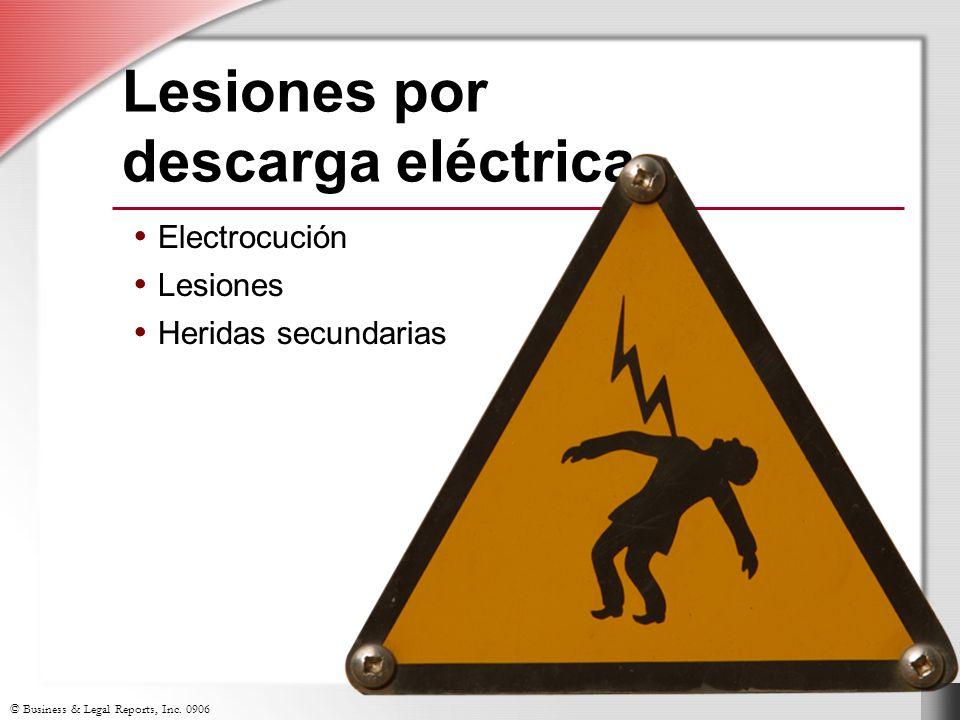 Lesiones por descarga eléctrica