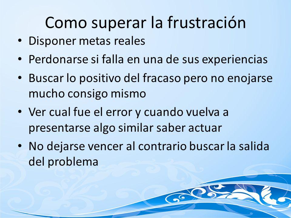 Como superar la frustración