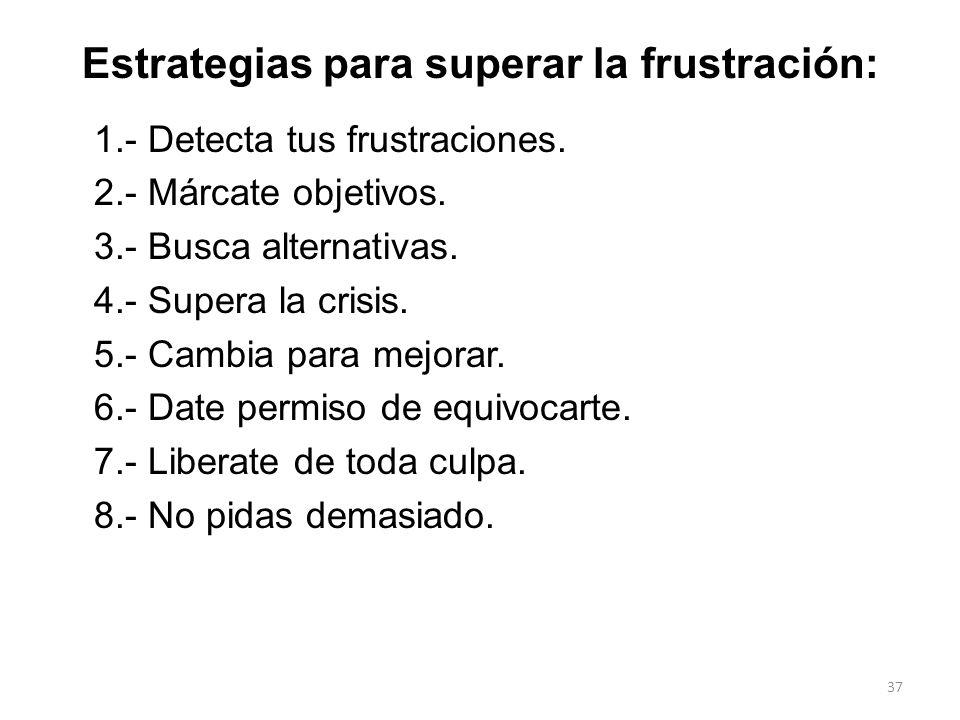 Estrategias para superar la frustración: