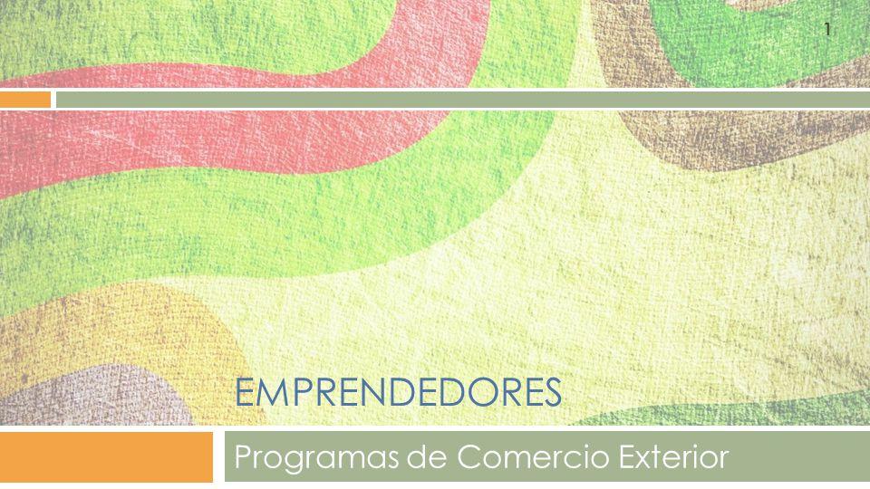 Programas de Comercio Exterior