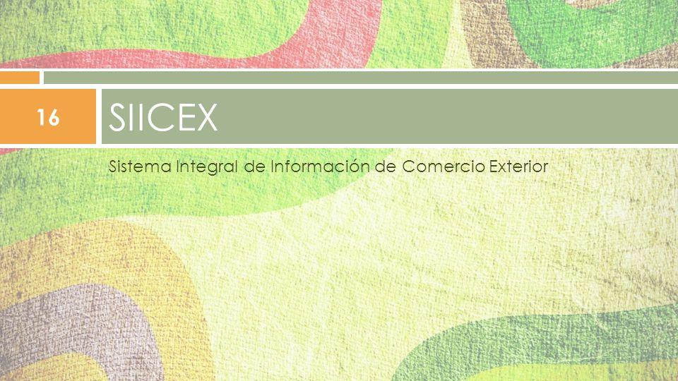 SIICEX Sistema Integral de Información de Comercio Exterior