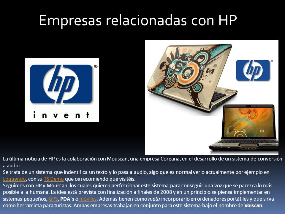 Empresas relacionadas con HP