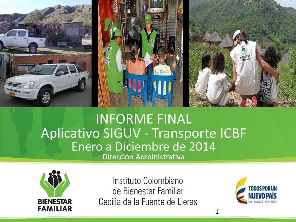 Aplicativo SIGUV - Transporte ICBF