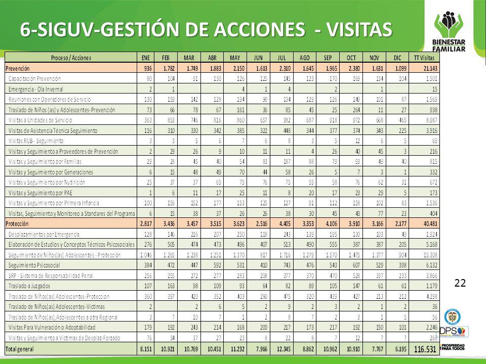 6-SIGUV-GESTIÓN DE ACCIONES - VISITAS