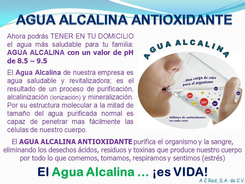 AGUA ALCALINA ANTIOXIDANTE El Agua Alcalina … ¡es VIDA!