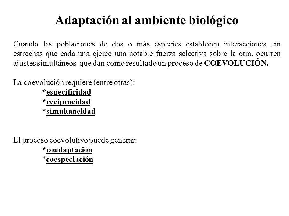 Adaptación al ambiente biológico