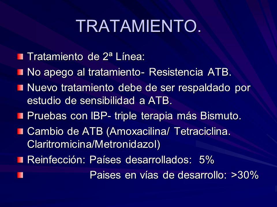 TRATAMIENTO. Tratamiento de 2ª Línea:
