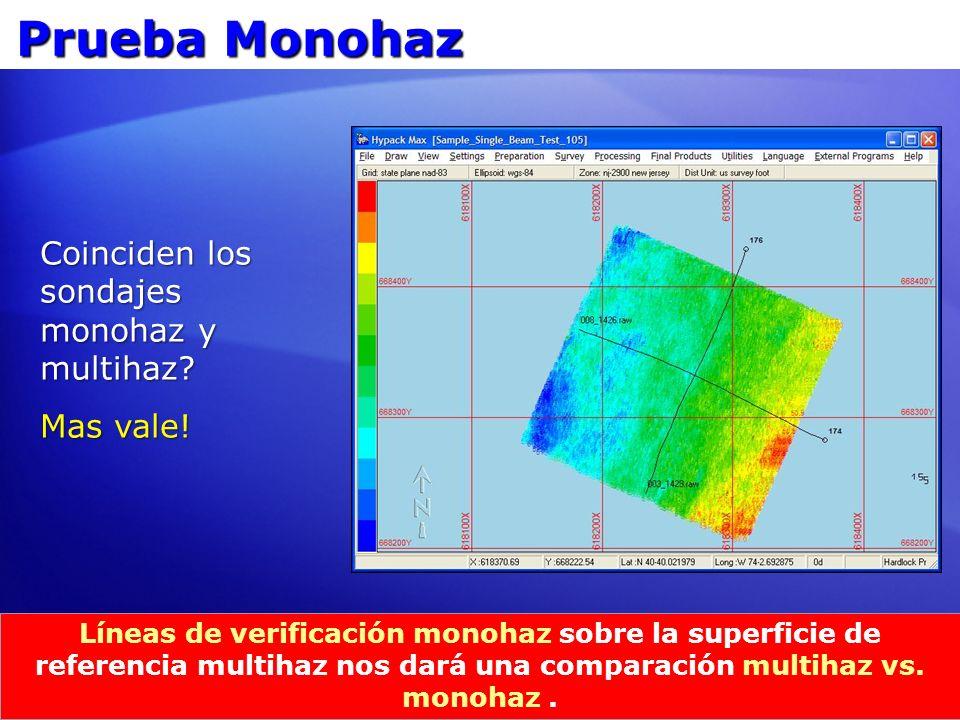 Prueba Monohaz Coinciden los sondajes monohaz y multihaz Mas vale!