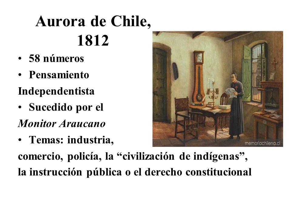 Aurora de Chile, 1812 58 números Pensamiento Independentista