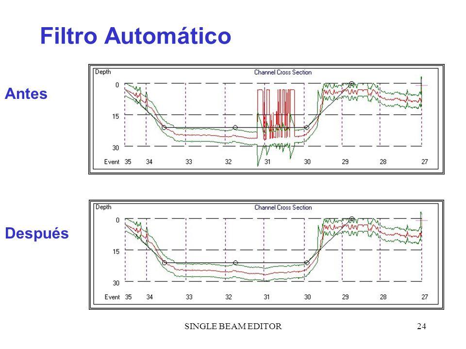 Filtro Automático Antes Después SINGLE BEAM EDITOR