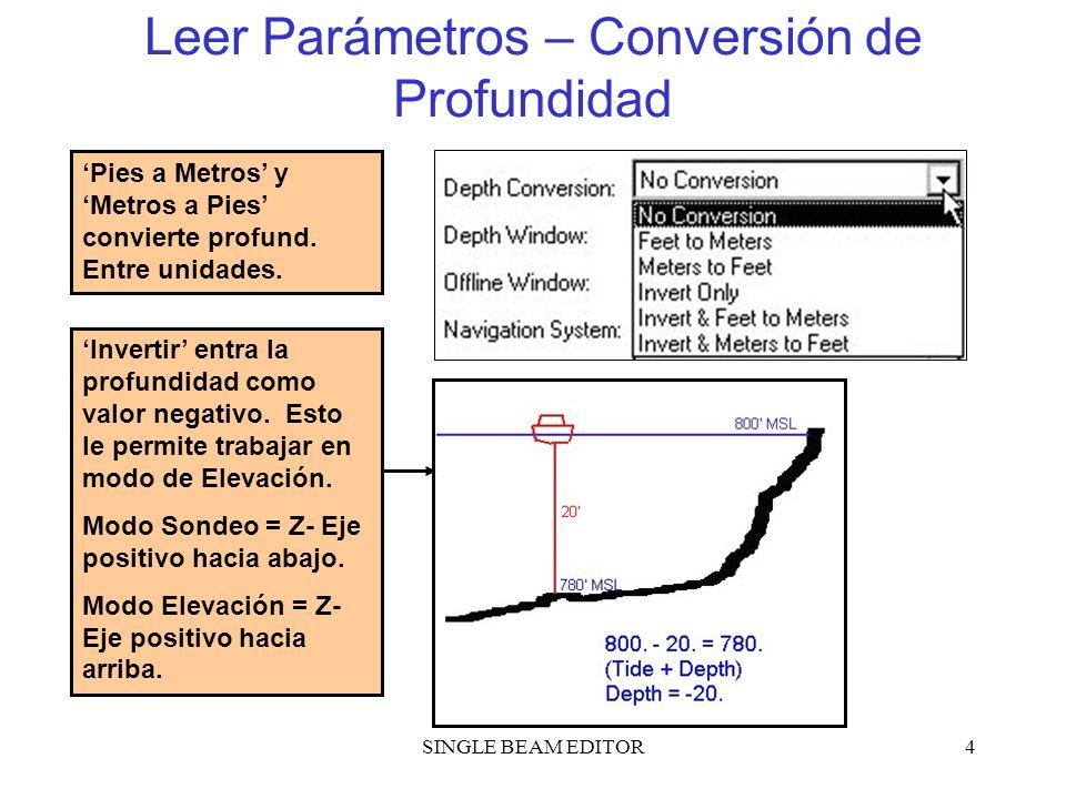 Leer Parámetros – Conversión de Profundidad