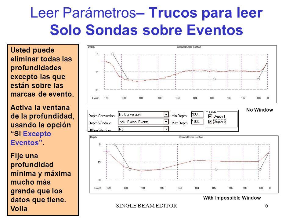 Leer Parámetros– Trucos para leer Solo Sondas sobre Eventos
