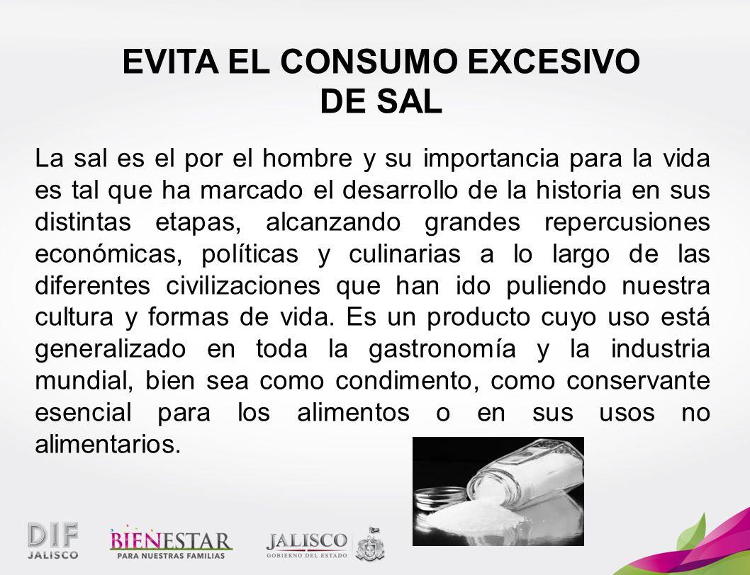 EVITA EL CONSUMO EXCESIVO
