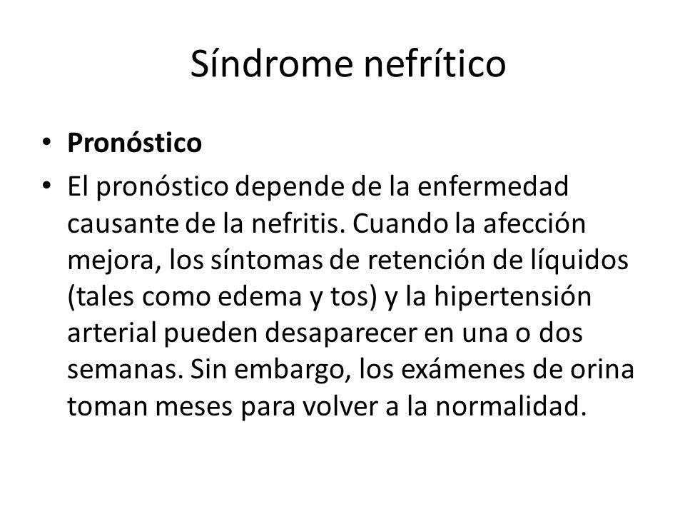 Síndrome nefrítico Pronóstico